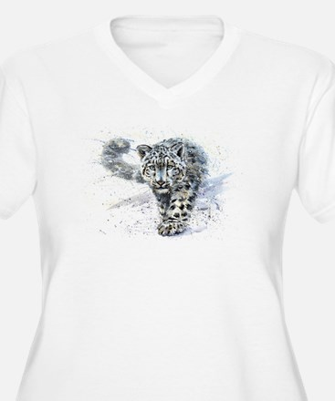 Snow leopard Plus Size T-Shirt