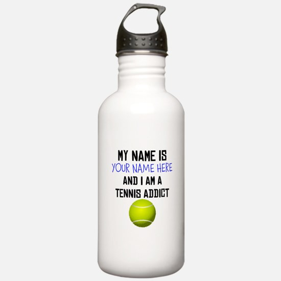 Custom Tennis Addict Water Bottle