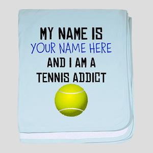 Custom Tennis Addict baby blanket