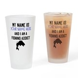 Funny fishing Drinking Glass