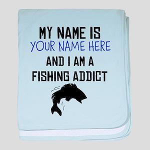 Custom Fishing Addict baby blanket
