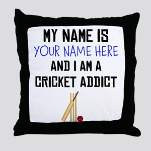 Custom Cricket Addict Throw Pillow