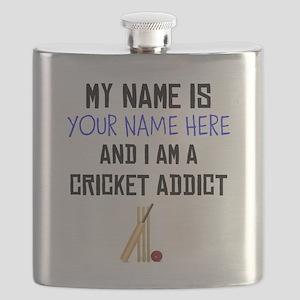 Custom Cricket Addict Flask