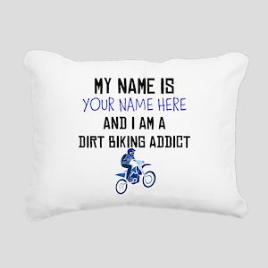 Custom Dirt Biking Addict Rectangular Canvas Pillo