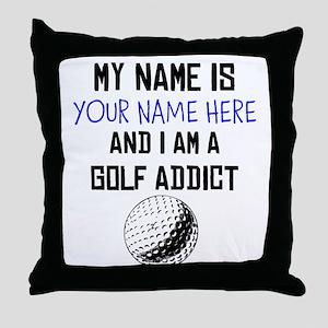 Custom Golf Addict Throw Pillow