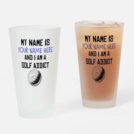 Custom Golf Addict Drinking Glass