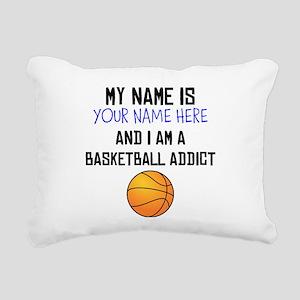 Custom Basketball Addict Rectangular Canvas Pillow