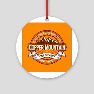 Copper Mountain Tangerine Ornament (Round)