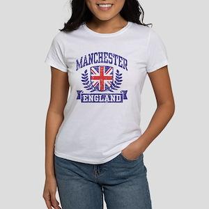 Manchester England Women's Classic White T-Shirt