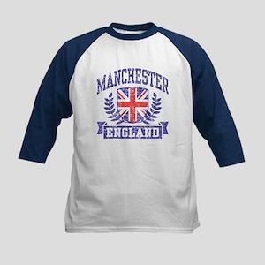 Manchester England Kids Baseball Tee