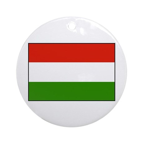 Flag of Hungary Ornament (Round)