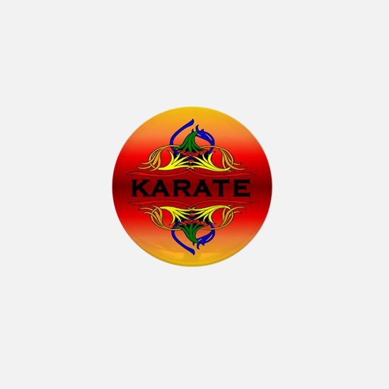 Karate Abstract Swirls Mini Button