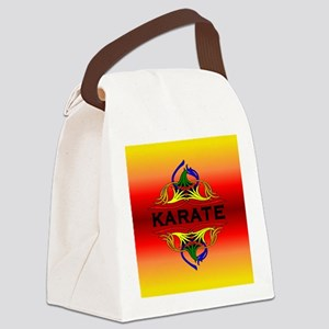 Karate Abstract Swirls Canvas Lunch Bag