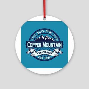 Copper Mountain Ice Ornament (Round)
