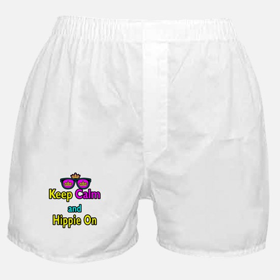 Crown Sunglasses Keep Calm And Hippie On Boxer Sho