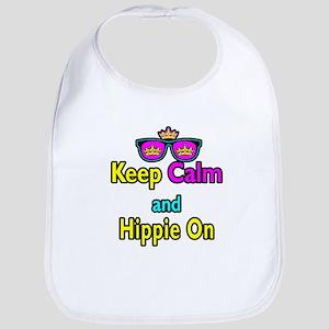 Crown Sunglasses Keep Calm And Hippie On Bib