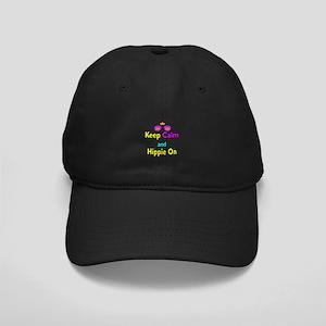 Crown Sunglasses Keep Calm And Hippie On Black Cap
