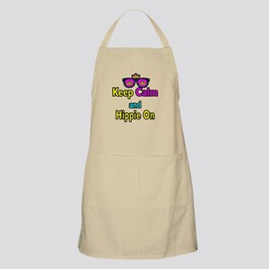 Crown Sunglasses Keep Calm And Hippie On Apron