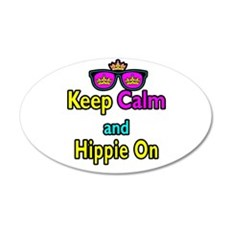 Crown Sunglasses Keep Calm And Hippie On Wall Decal