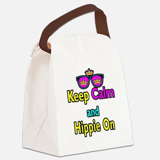 Crown Sunglasses Keep Calm And Hippie On Canvas Lu