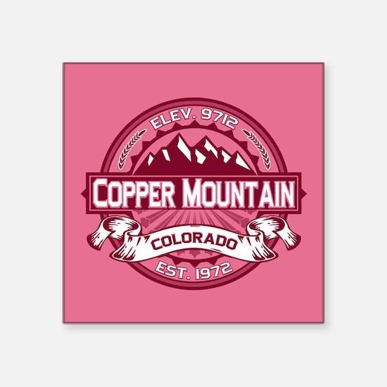 """Copper Mountain Honeysuckle Square Sticker 3"""" x 3"""""""