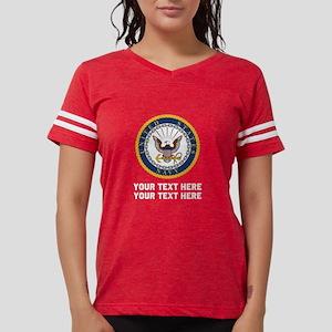 US Navy Symbol Customized Womens Football Shirt