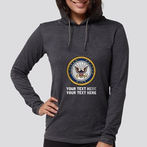 US Navy Symbol Customized Womens Hooded Shirt