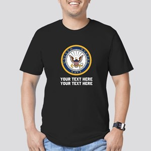 US Navy Symbol Customi Men's Fitted T-Shirt (dark)