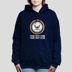 US Navy Symbol Customize Women's Hooded Sweatshirt