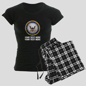 US Navy Symbol Customized Women's Dark Pajamas