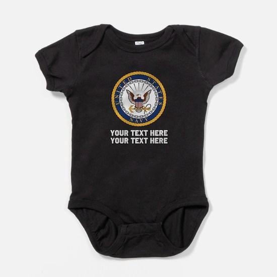 US Navy Symbol Customized Baby Bodysuit