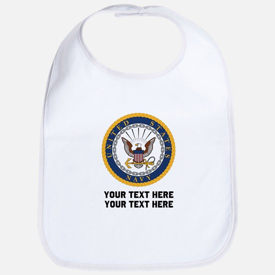 US Navy Symbol Customized Cotton Baby Bib