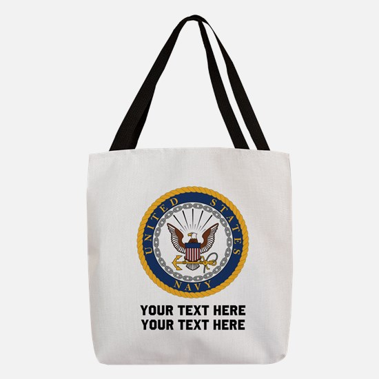 US Navy Symbol Customized Polyester Tote Bag