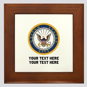 US Navy Symbol Customized Framed Tile