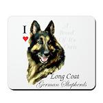 Long Coat German shepherds Mousepad