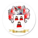 Brumell Round Car Magnet