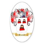Brumell Sticker (Oval 50 pk)