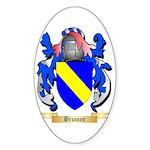 Bruinen Sticker (Oval 50 pk)
