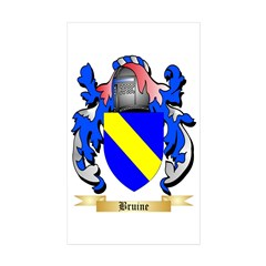 Bruine Sticker (Rectangle 50 pk)