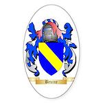 Bruine Sticker (Oval 50 pk)
