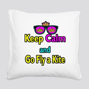 Crown Sunglasses Keep Calm And Go Fly a Kite Squar