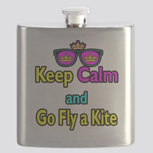 Crown Sunglasses Keep Calm And Go Fly a Kite Flask