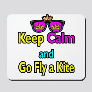 Crown Sunglasses Keep Calm And Go Fly a Kite Mouse