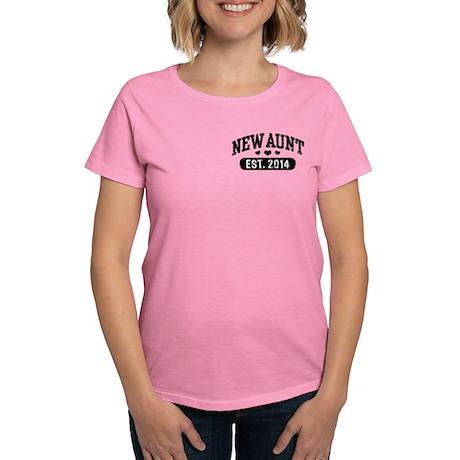 New Aunt Est. 2014 Women's Dark T-Shirt