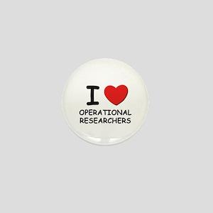 I love operational researchers Mini Button