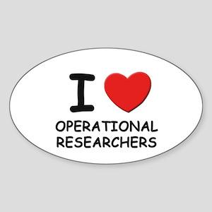 I love operational researchers Oval Sticker