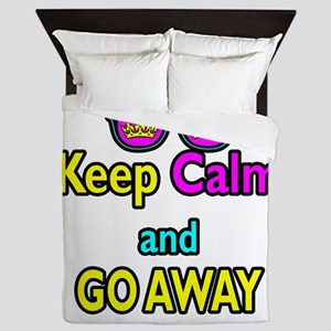 Crown Sunglasses Keep Calm And Go Away Queen Duvet