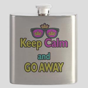 Crown Sunglasses Keep Calm And Go Away Flask