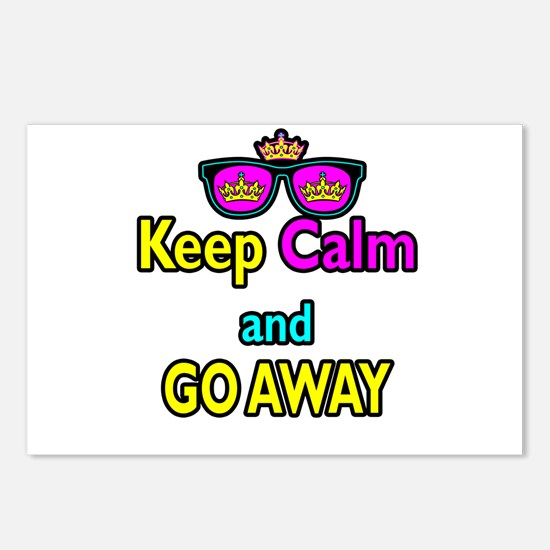 Crown Sunglasses Keep Calm And Go Away Postcards (