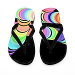 Colorful 3D Tube Flip Flops